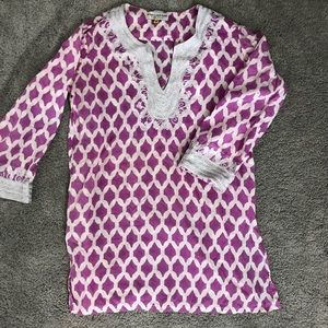 Embroidered Coverup tunic